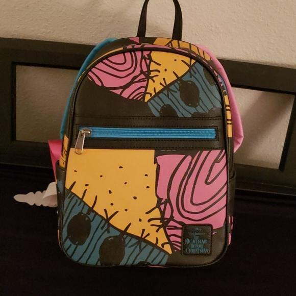 Disney Nightmare Before Christmas Sally Patchwork Mini Backpack NWT
